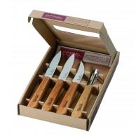 """Coffret 4 couteaux inox Opinel """"Les essentiels du cuisinier"""""""