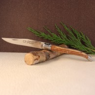 Manche olivier Couteau LAGUIOLE AU SABOT