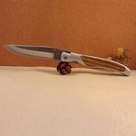 Manche alu insert bois de bokote Couteau LAGUIOLE G.DAVID