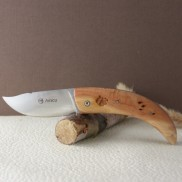 Manche genévrier  gravé Couteau AMICU AU SABOT