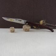 Couteau Laguiole par LE FIDELE plein manche olivier ou bois de violette