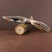 Manche cerf véritable Couteau LAGUIOLE  CHASSE G.DAVID