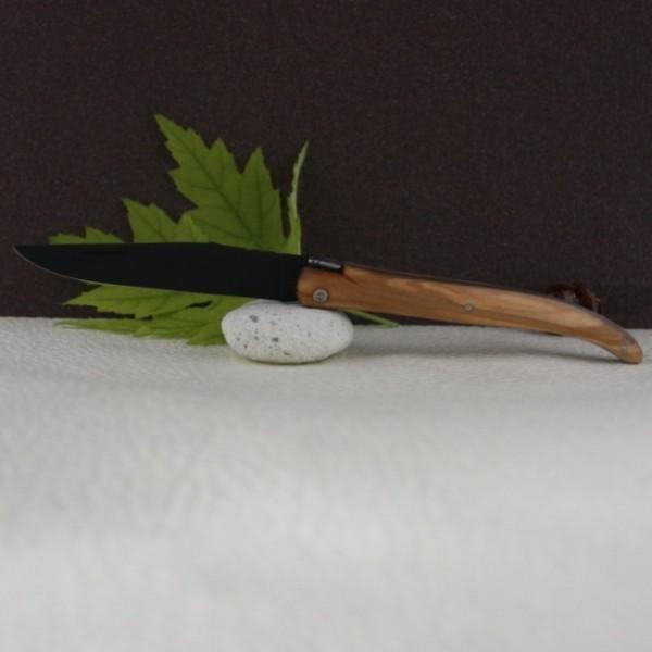 couteau laguiole au sabot olivier lame noire. Black Bedroom Furniture Sets. Home Design Ideas