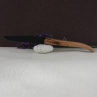 Couteau LAGUIOLE AU SABOT  genévrier  lame noire