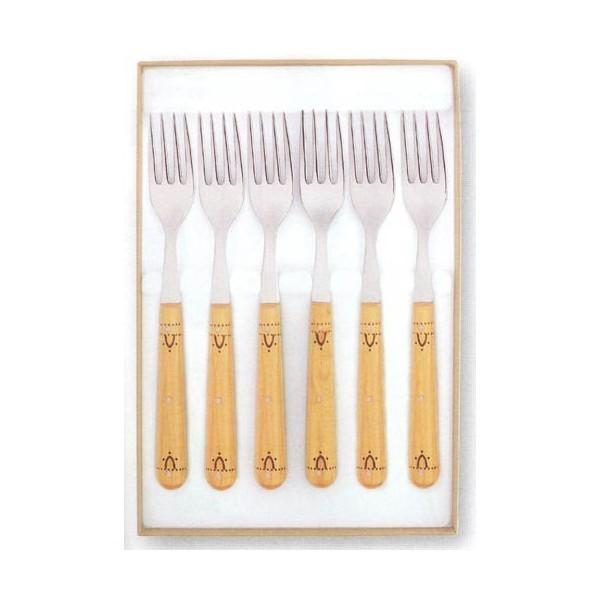 Coffret 6 fourchettes de table 20cm NONTRON manche buis rond
