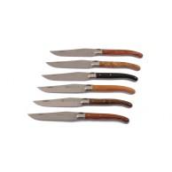 Coffret  6 couteaux manches bois assortis  Laguiole G.DAVID