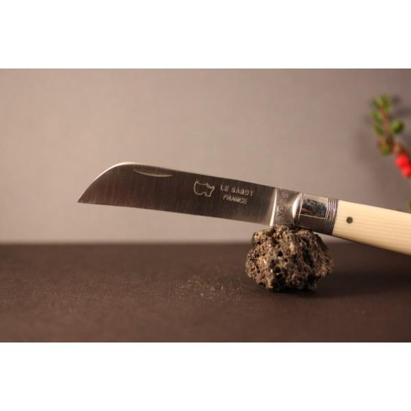 Couteau le tonneau Manche ivoirine lame carbone AU SABOT