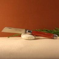 Couteau le tonneau Manche bois de rose lame carbone AU SABOT
