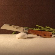 Couteau L'Armor manche loupe de genévrier avec lien cuir AU SABOT