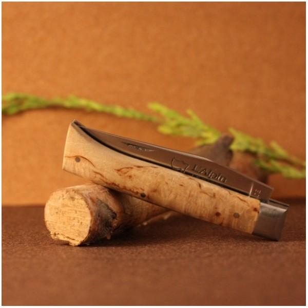 Couteau L'Alpin manche bouleau de Finlande  AU SABOT