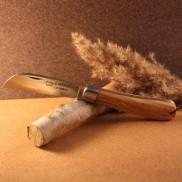 Couteau L'Armor manche olivier avec lien cuir AU SABOT