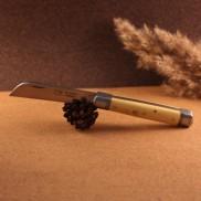Couteau le tonneau Manche buis lame carbone AU SABOT