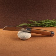 Couteau le tonneau Manche olivier lame carbone AU SABOT