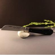 Couteau L'Armor manche ébène avec lien cuir AU SABOT