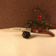 Couteau le Basque bois de violette médaillon croix basque AU SABOT
