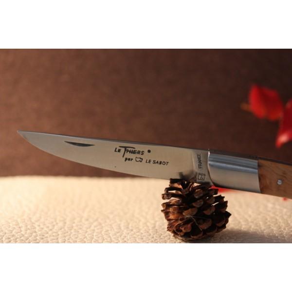 Couteau Le THIERS  AU SABOT manche loupe de genévrier