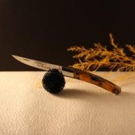 Couteau Le THIERS  AU SABOT manche décoration orange torsade
