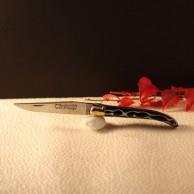 Couteau Laguiole  AU SABOT manche décoration noir torsade