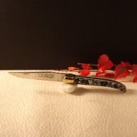 Couteau Laguiole  AU SABOT manche décoration japonisant torsade