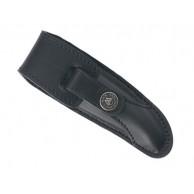 Etui LAGUIOLE PRESTIGE, cuir noir, port horizontal/vertical