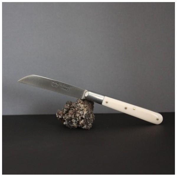 Couteau le Langres Manche ivoirine lame carbone AU SABOT