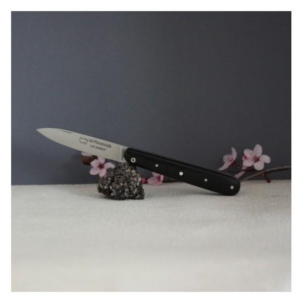 Couteau Rouennais 11cm manche Ebène AU SABOT