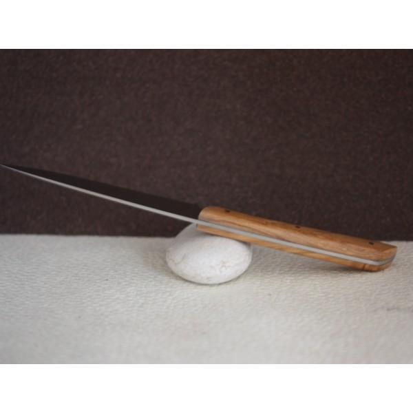 Coffret 6 couteaux de table epure manche olivier au sabot - Coffret couvert de table ...