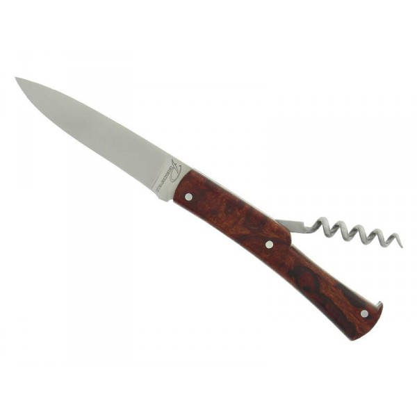 Couteau PERCEVAL « Le Français » modèle Vintage  2 pièces manche 9,5 cm loupe de bois de fer