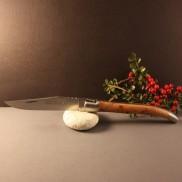Couteau LAGUIOLE AU SABOT  Loupe de genévrier
