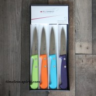 Coffret de 4 Couteaux d'Office ABS panachés AU SABOT