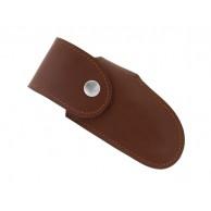 Etui « LE MONTAGNARD », cuir pérou, port horizontal/vertical pour couteaux forts jusqu'à 14 cm de manche