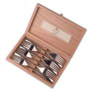 Coffret de 6 fourchettes de table 20.5cm  inox brillant