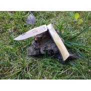 Couteau L'Alpin LOUIS CAU Manche Corne blonde 10cm