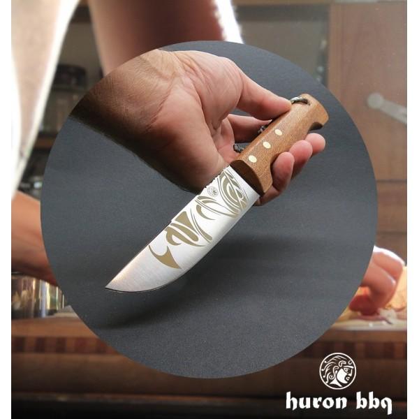 Couteau HURON BBQ manche bois de Sapele LUG