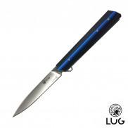Couteau Concept K manche 13cm noir bleu lame brossée