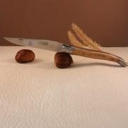 Manche olivier Couteau LAGUIOLE AVEYRON
